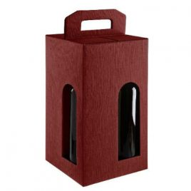 4 Bottle Card Wine Box