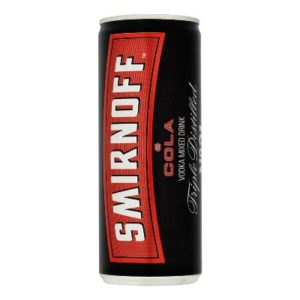 smirnoff vodka & cola