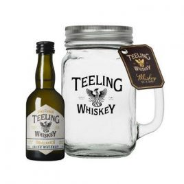 teeling miniature with glass