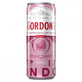 gordons pink gin and tonic can